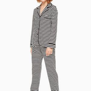 Kate Spade Flannel Striped Pajamas